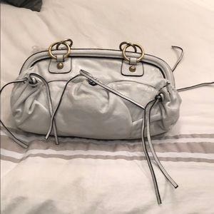 Sabina double handle leather handbag